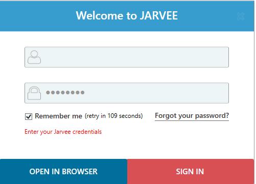 login into Jarvee