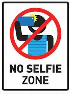 Respect selfie-banned zones