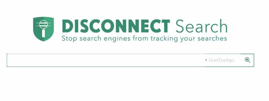Disconnect Search engine