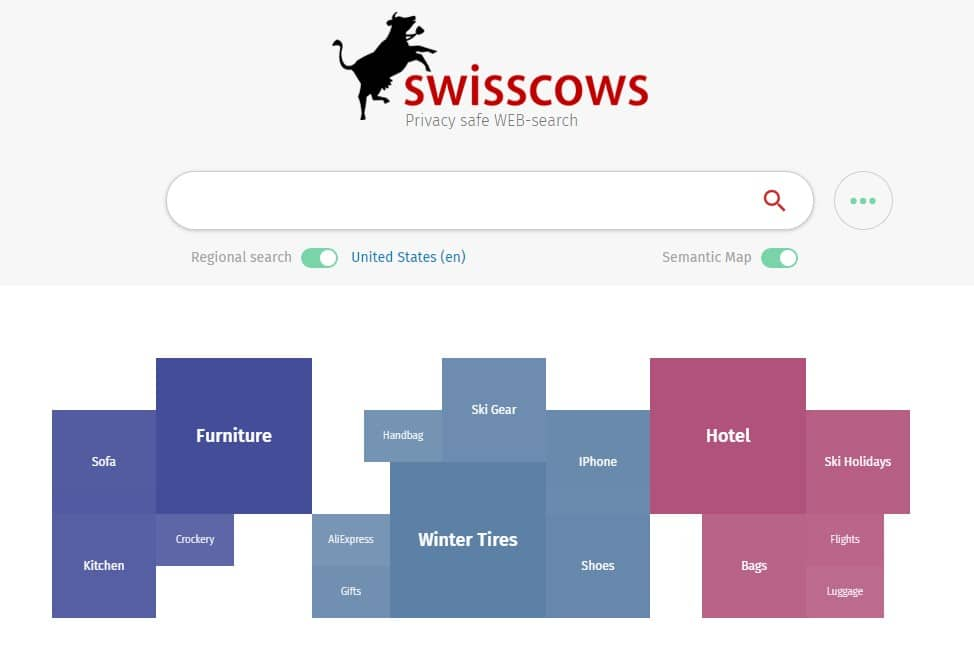 Swisscows Search engine