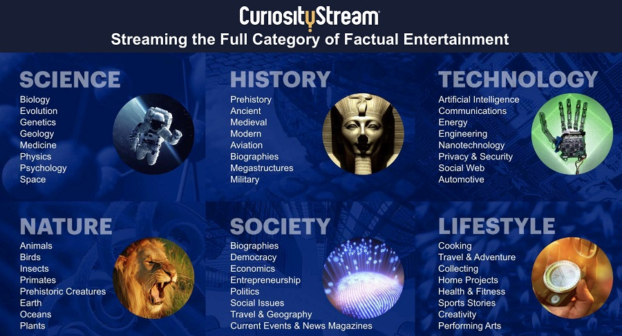 CuriosityStream entertainment experience