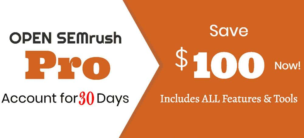 Free SEMrush Pro account