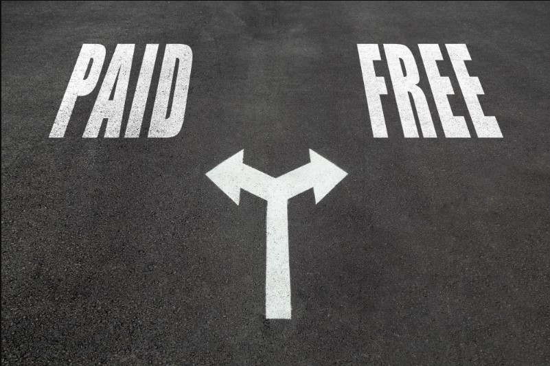 Free backup and paid plan