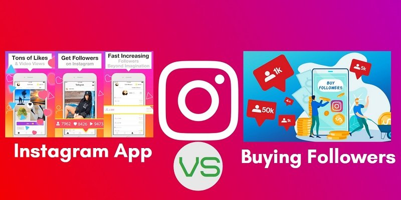 Instagram App vs. Buying Followers