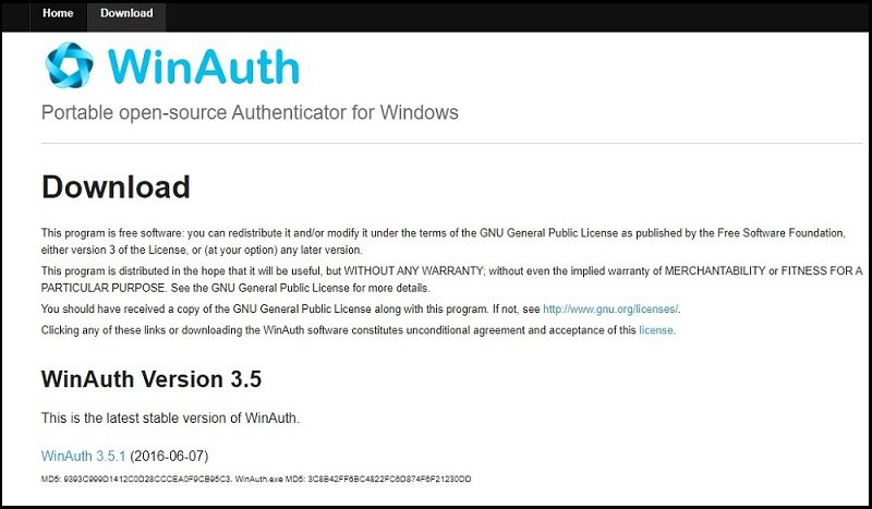download winauth