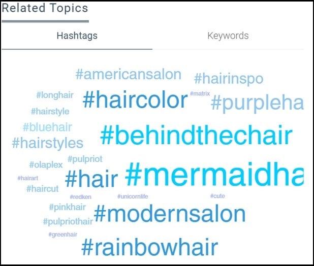right hashtags
