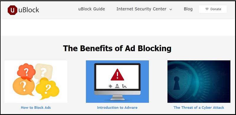 uBlock Plus Ad Blocker