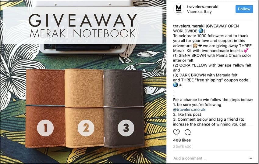 instagram contests