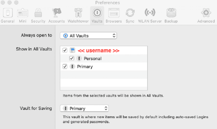 1Password vaults