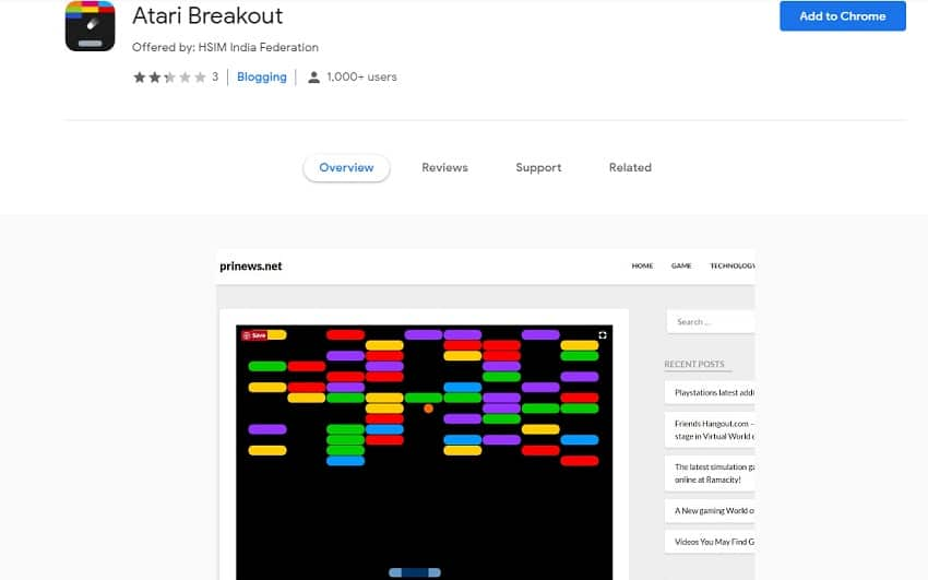 Atari Breakout On Google