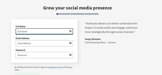 create a new post on Hootsuite