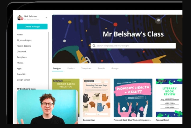 learning videos from canva