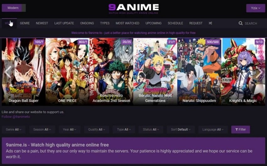 9Anime streaming