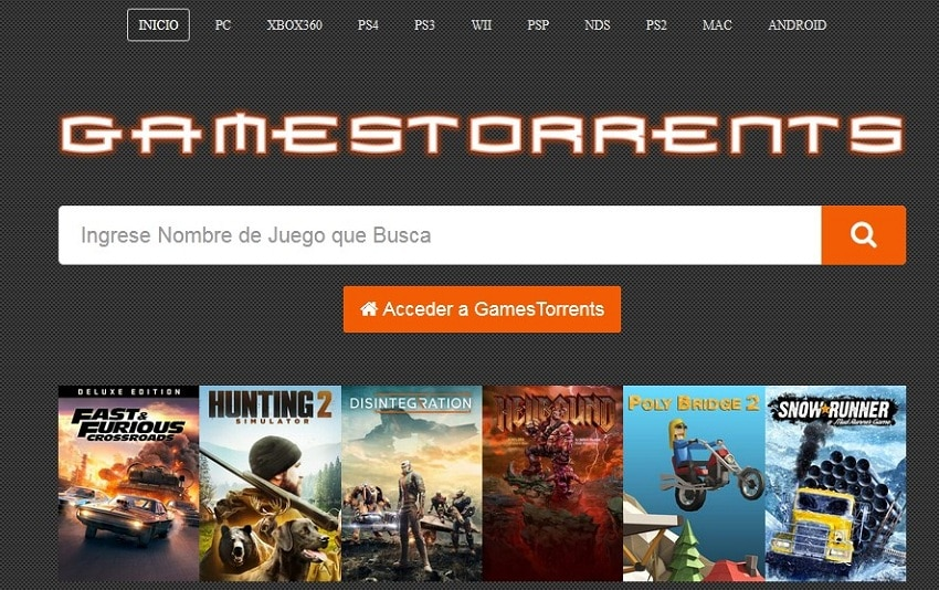 GameTorrents streaming