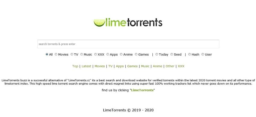 Lime Torrents streaming