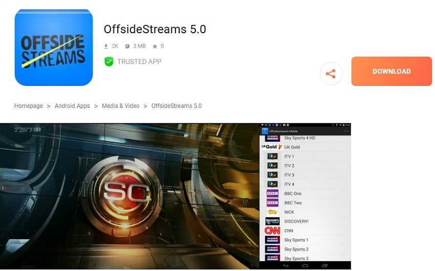 OffsideStreams streaming