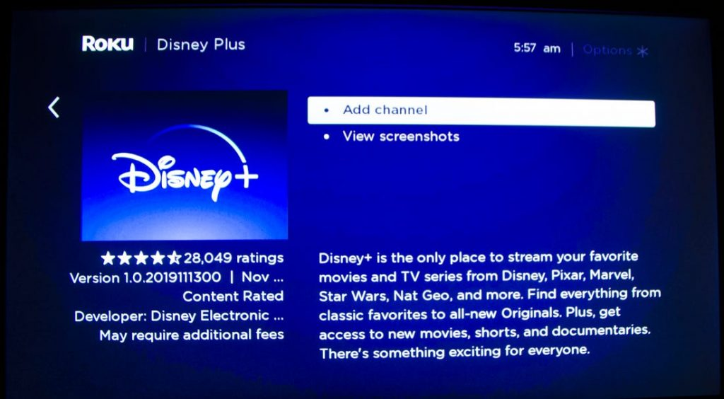 Search disney on roku