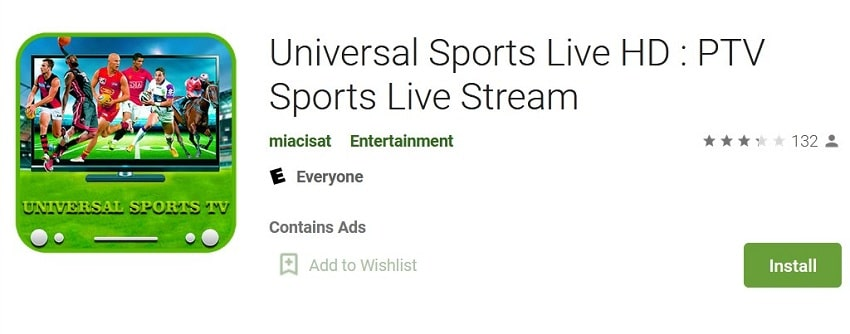 Universal TV HD Sports streaming