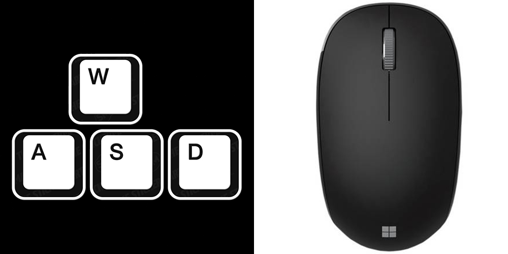 WASD and mouse