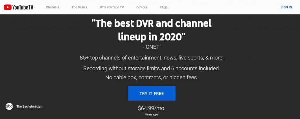 YoutubeTV streaming