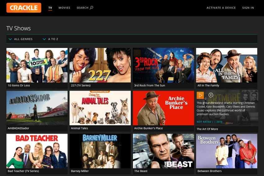 crackle streaming