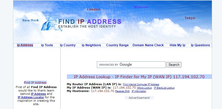 Find IP Address over view