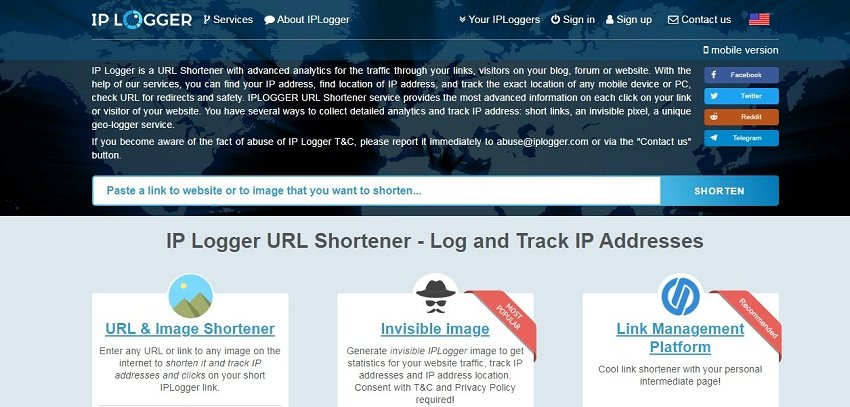 IP Logger URL Shortener over view