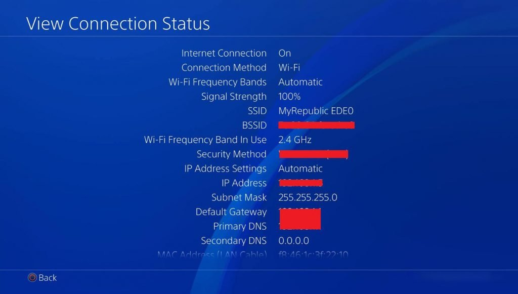 ps4 View Connection Status
