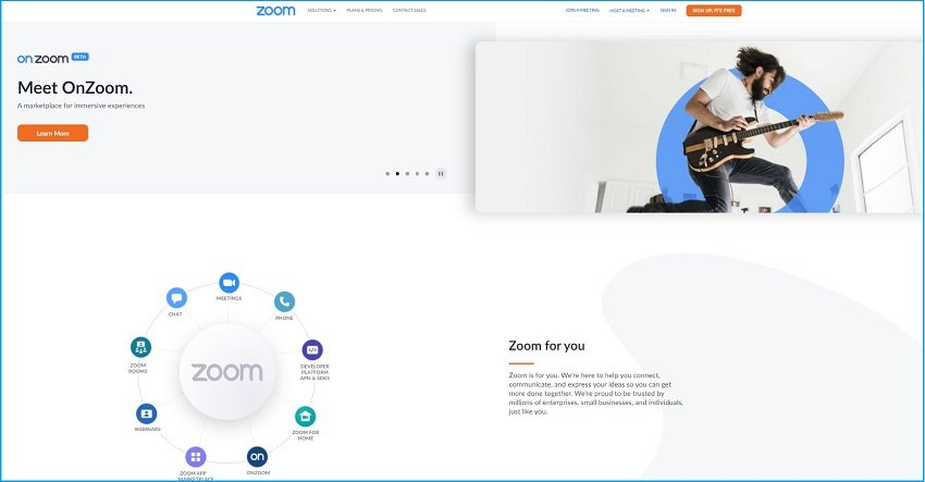 Zoom official website