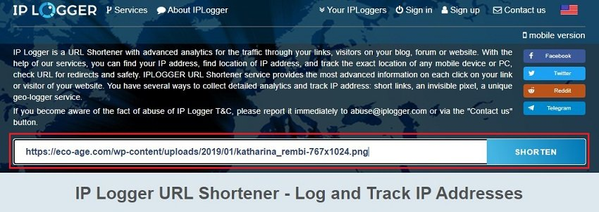 iplogger shorten option