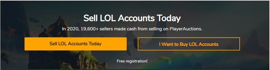 Player Auctions website